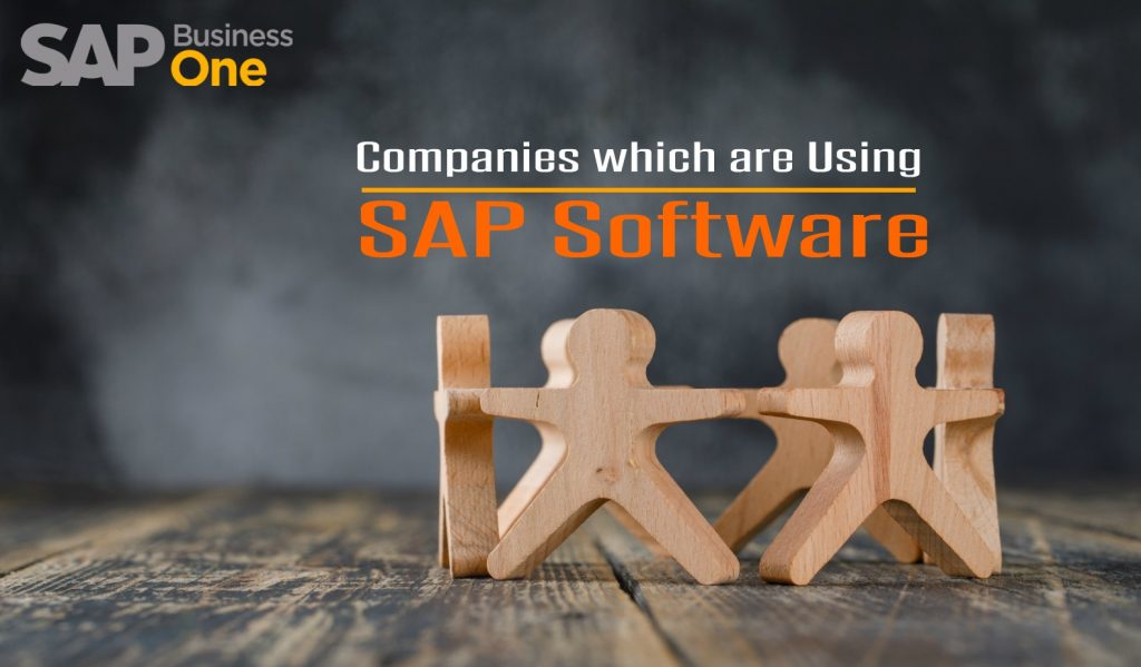 Companies which are using SAP software in India